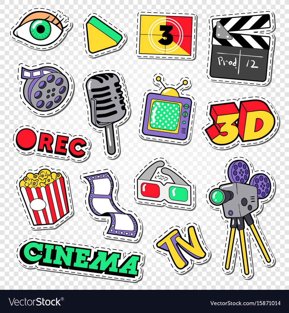 Cinema and movie doodle film entertainment