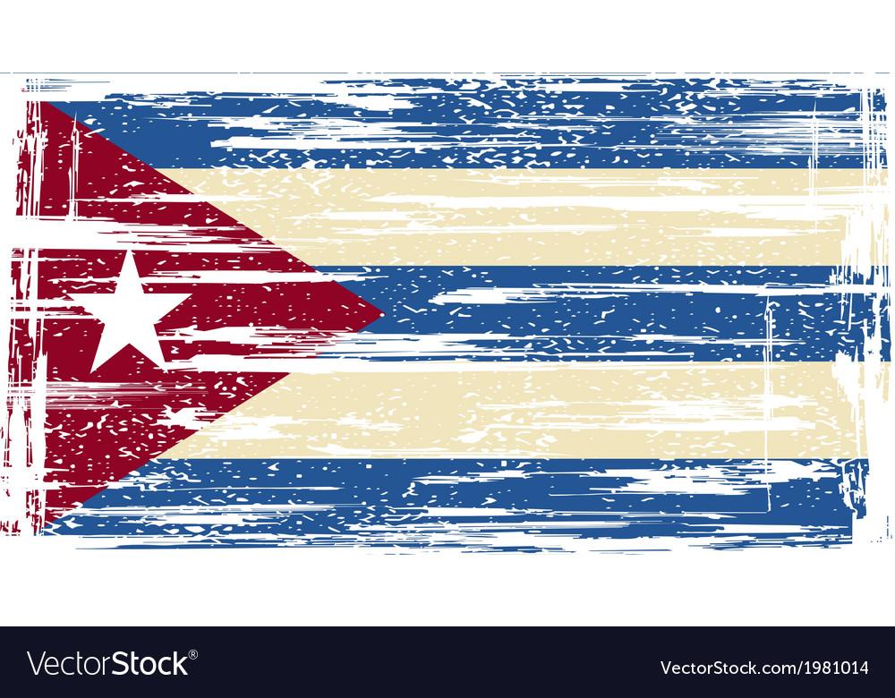 Cuban grunge flag