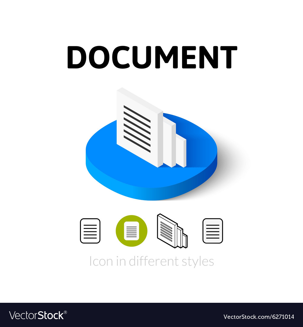 Document icon in different style