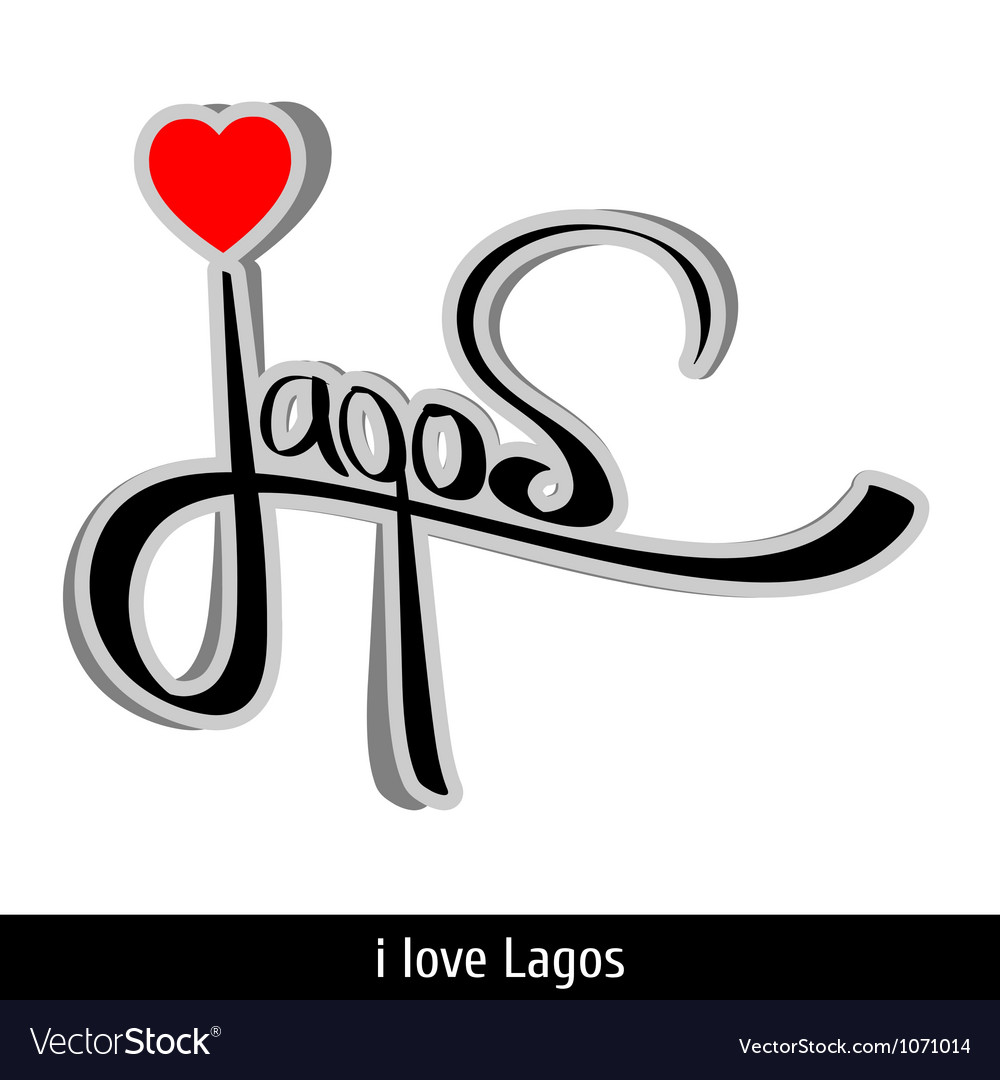 Lagos greetings hand lettering Calligraphy