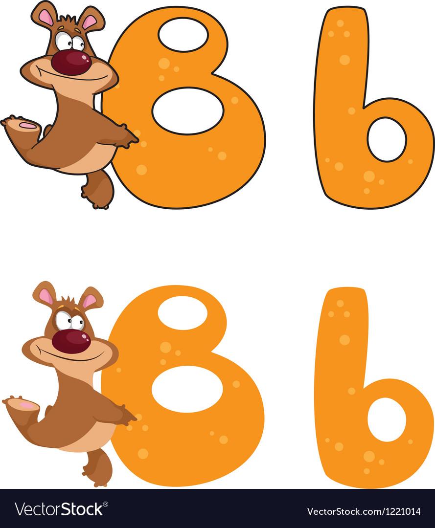 Letter B bear vector image