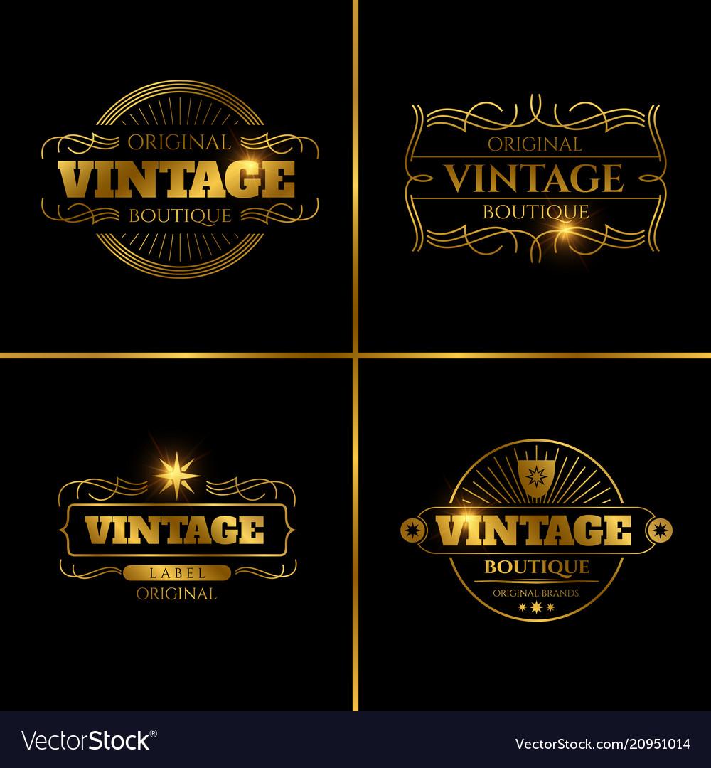 Retro labels design for vintage cards