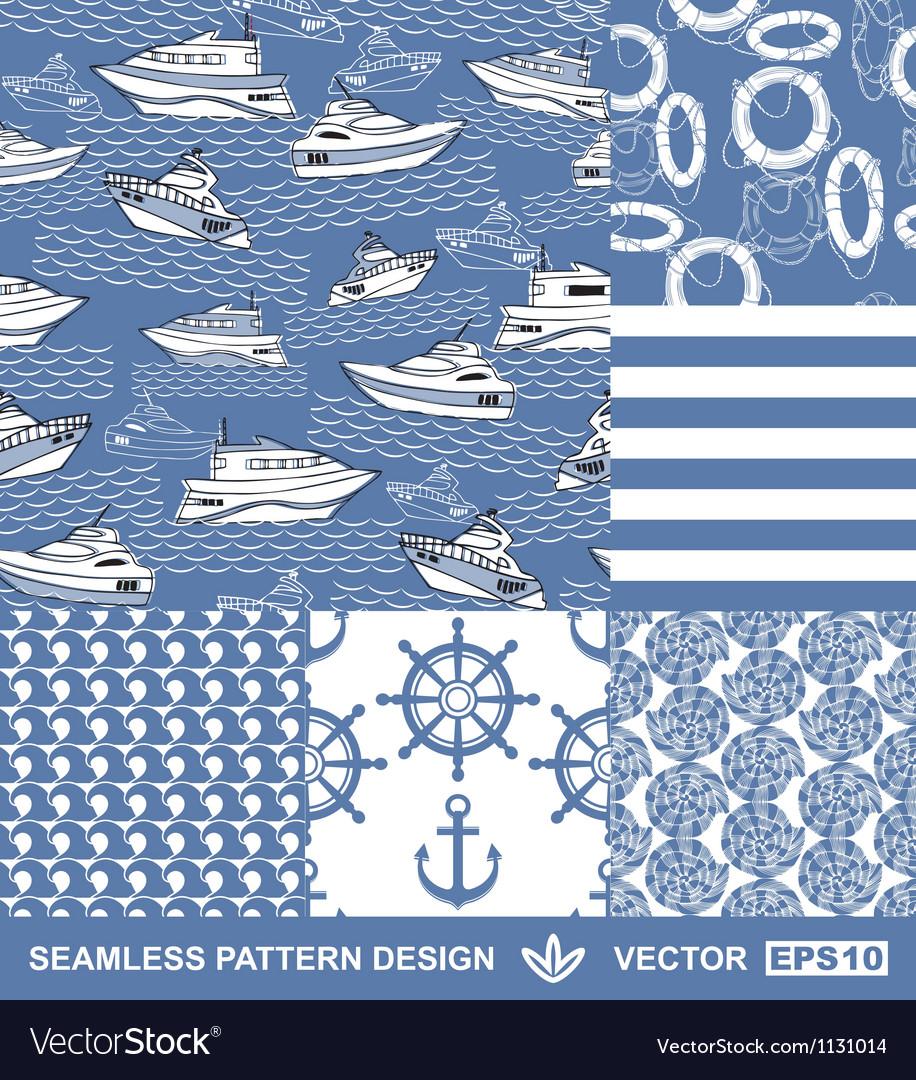 Sea backgrounds set summer maritime theme
