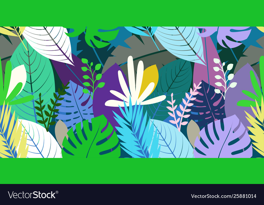 Seamless pattern with color leaves background