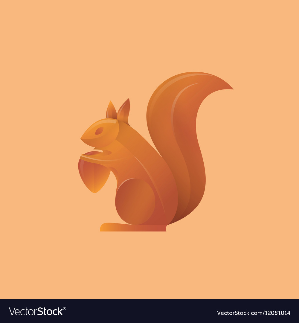 Squirrel holding an acorn high-quality