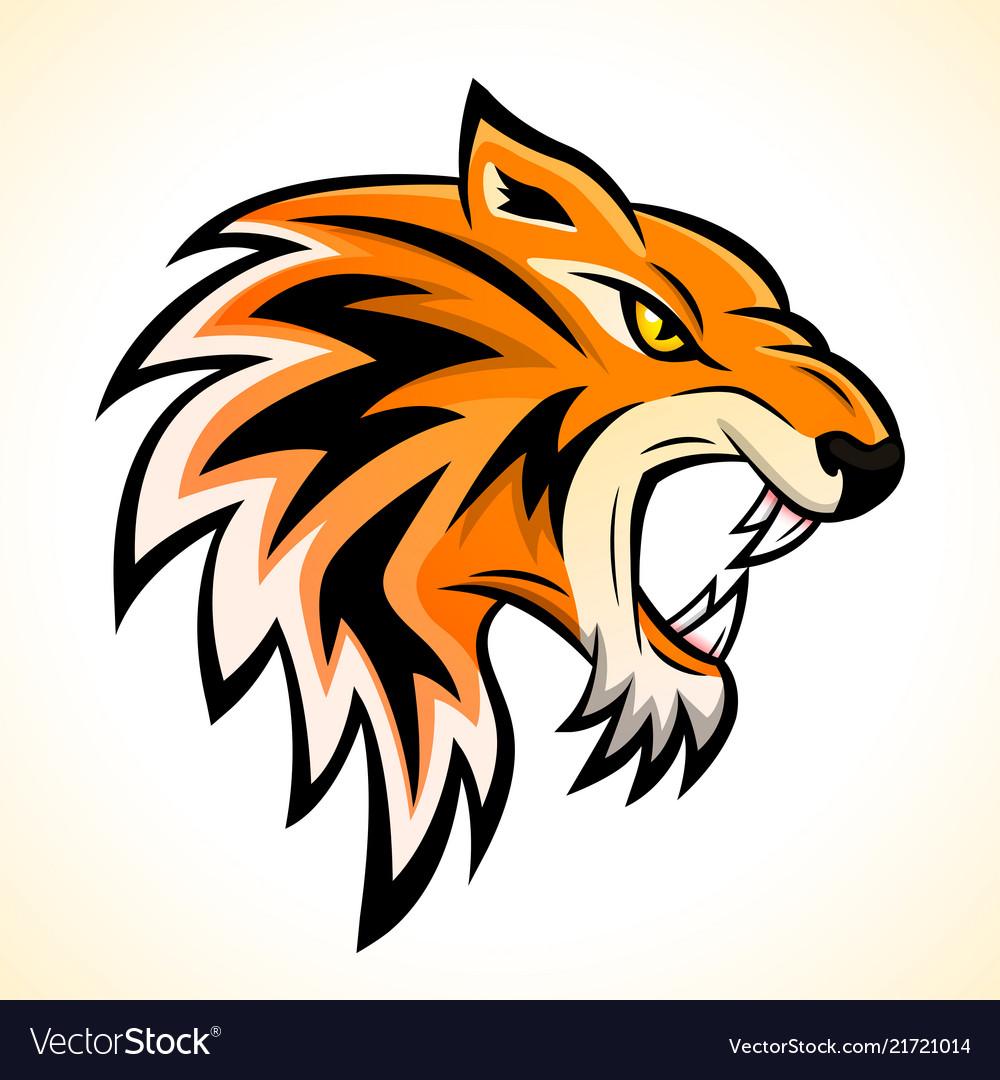 Tiger head mascot concept