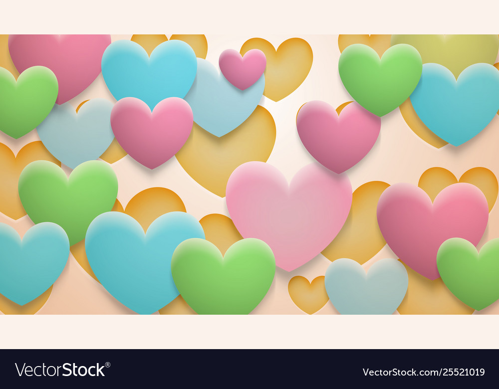 Background holes and hearts with shadows