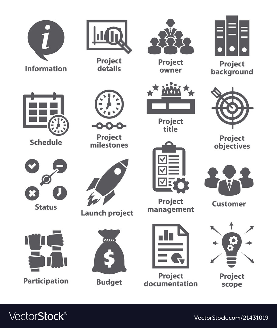 Business management icons pack 44