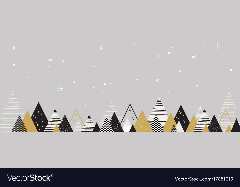 Christmas winter landscape background abstract