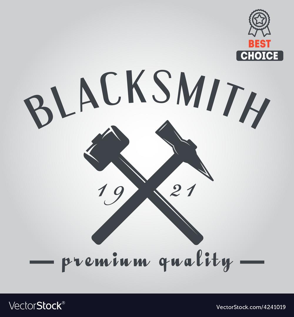 Logo for blacksmith typographic logotype badge