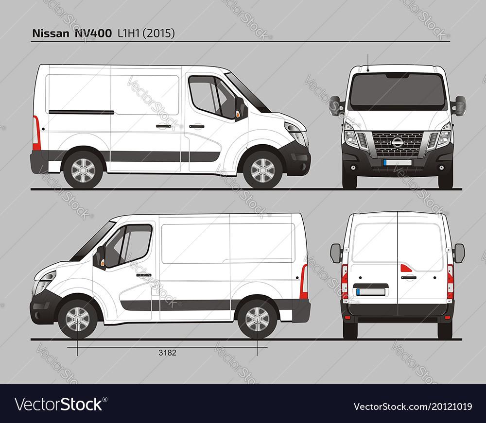Nissan Nv400 Cargo Van L1h1 2015 Vector Image