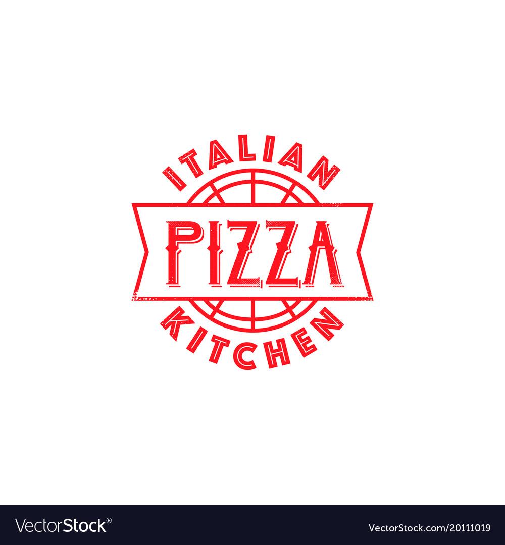 Pizza restaurant classic logo design