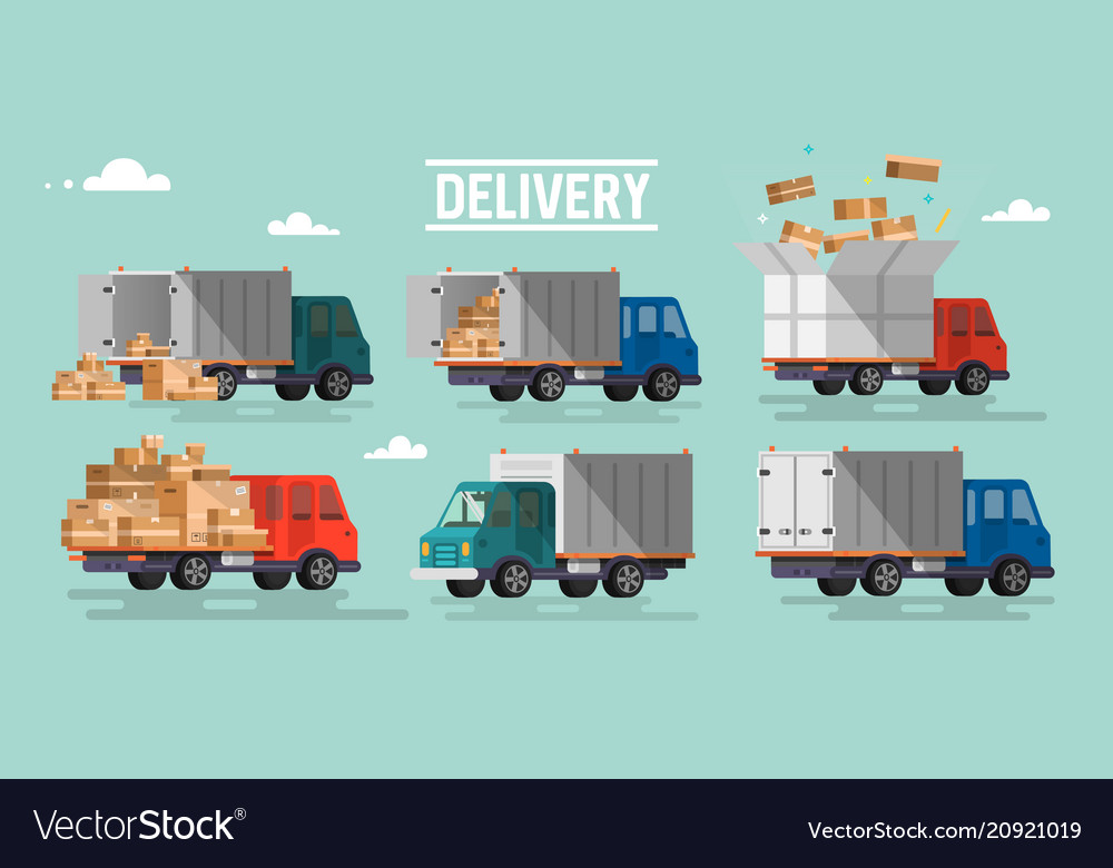 Shipping cargo delivery vector