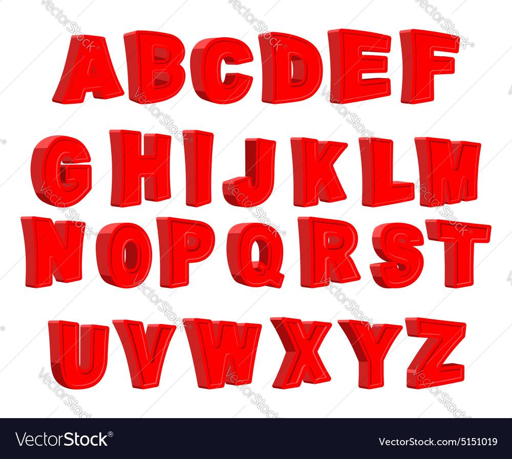 Toy letter Red alphabet Cartoon children ABC
