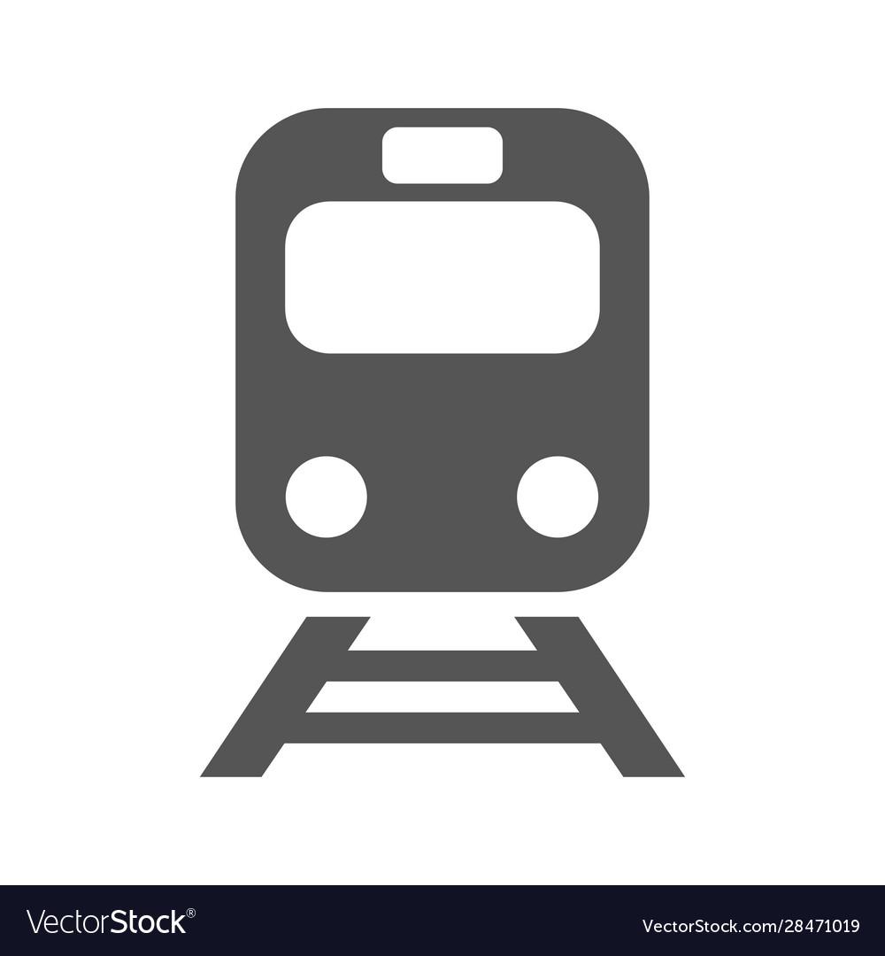 Train icon on white background flat