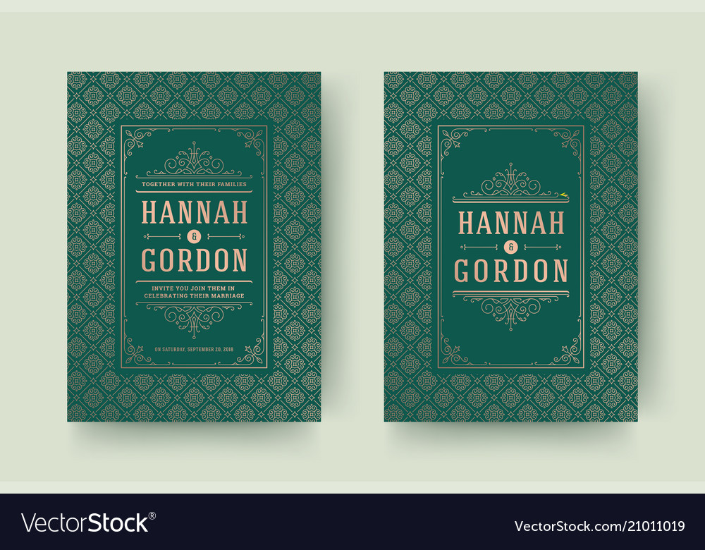 Wedding save the date invitation cards flourishes