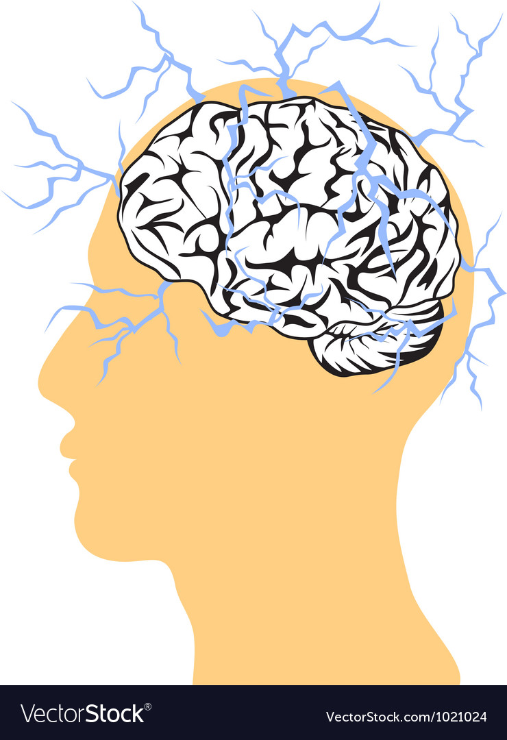 Concept of brain power vector image