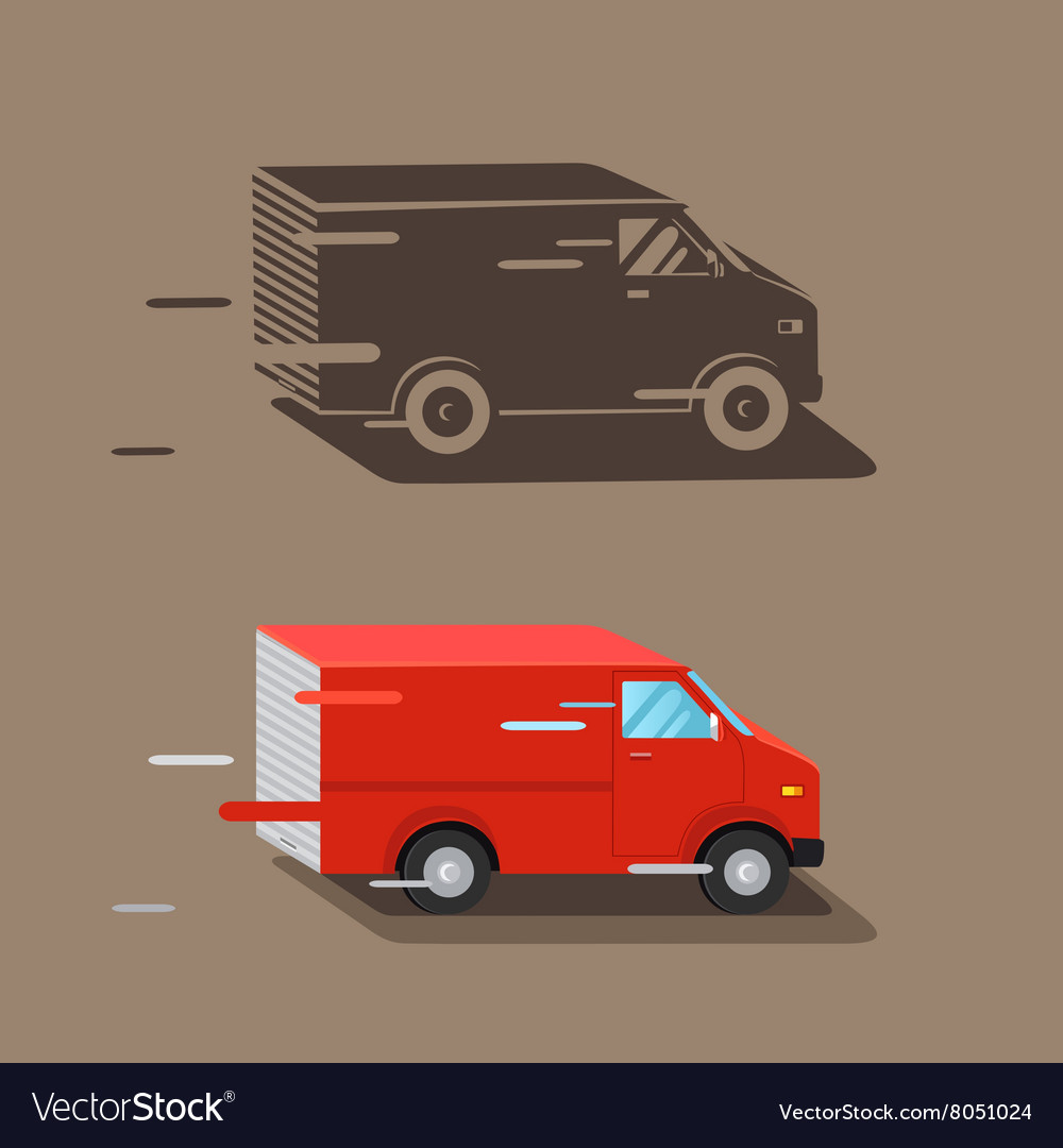 Delivery service van Fast delivery van Delivery vector image