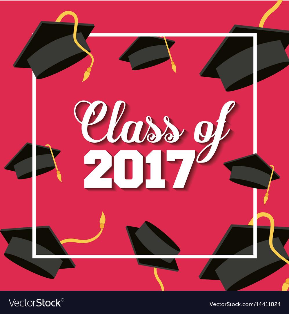 Graduation achievement design vector image