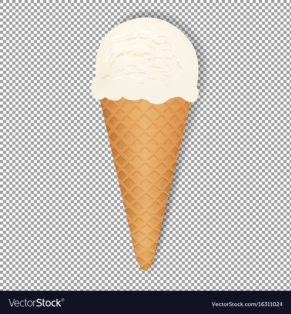 Ice Cream Cones Background Royalty Free Vector Image: Ice Cream With Transparent Background Royalty Free Vector