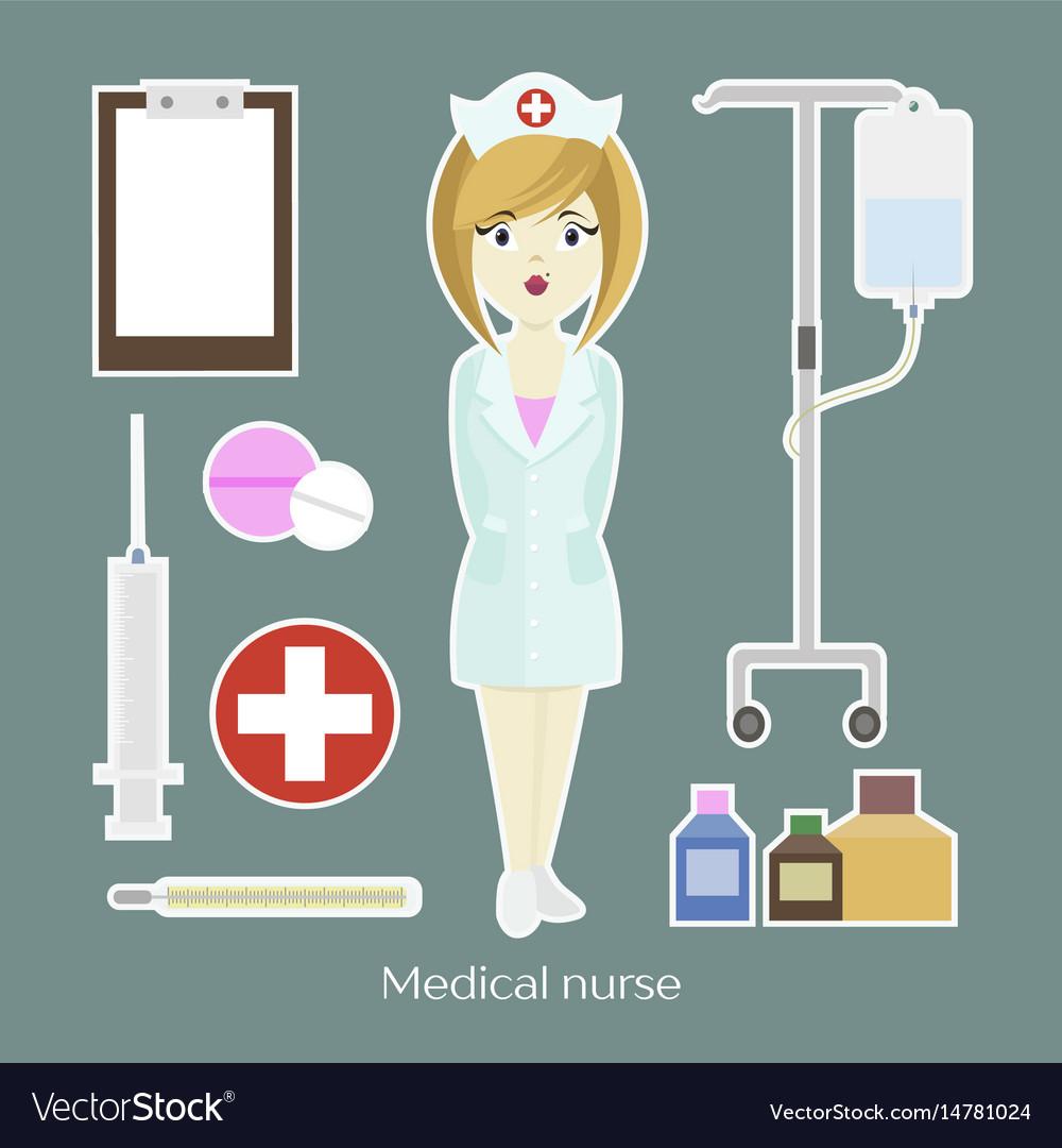 Medical doctor nurse girl