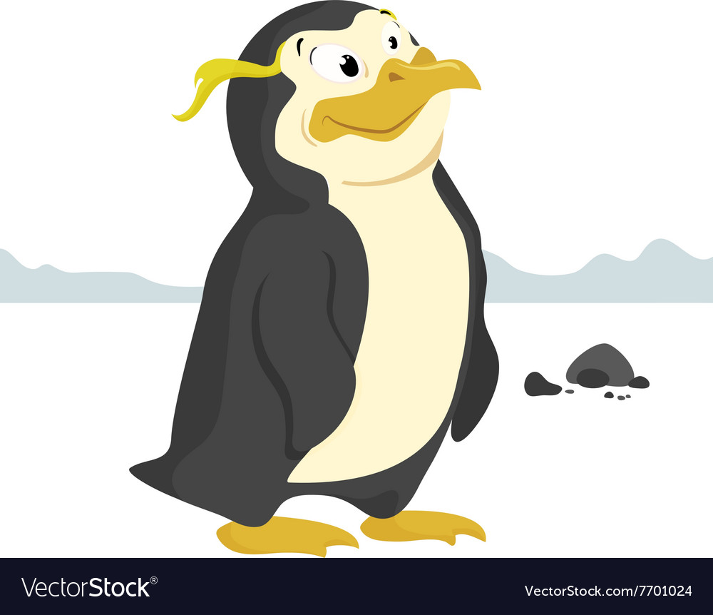 Penguin isolated vector image