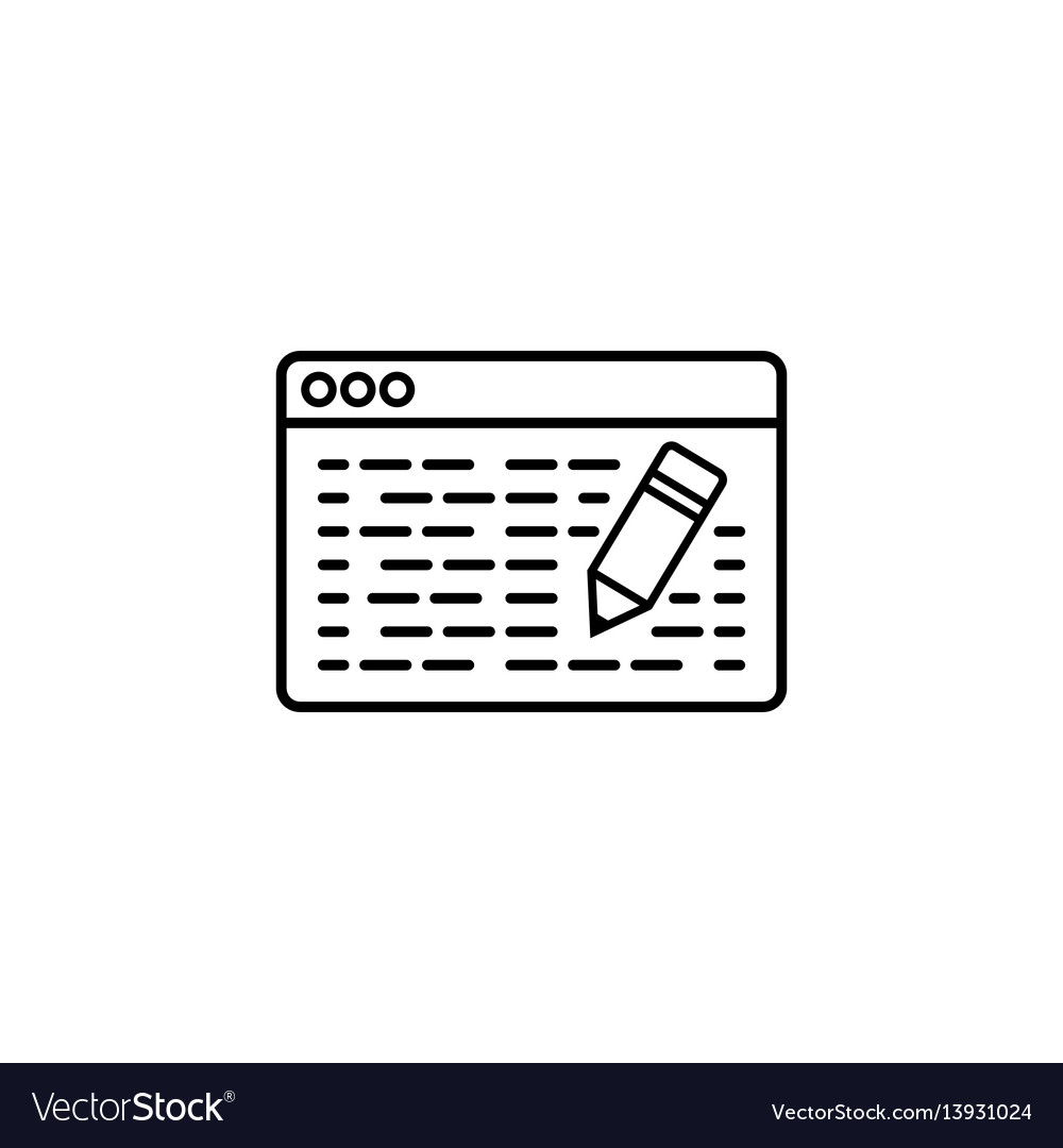 Seo copywriting line icon vector image