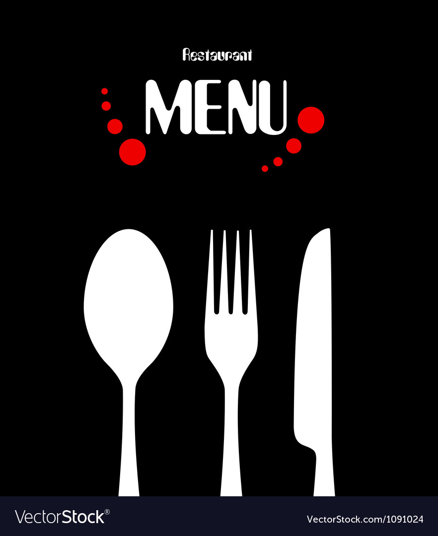 simple restaurant menu design royalty free vector image