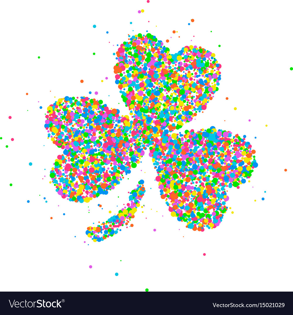 Abstract four leaf clover st patricks day