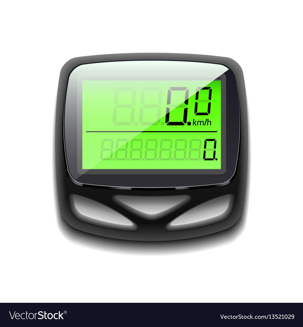 Bicycle speedometer isolated on white vector image