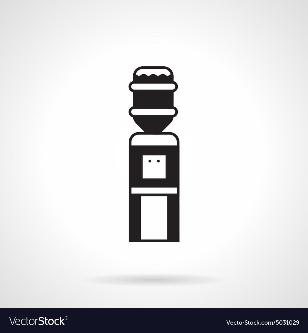 Black monochrome water cooler icon vector image