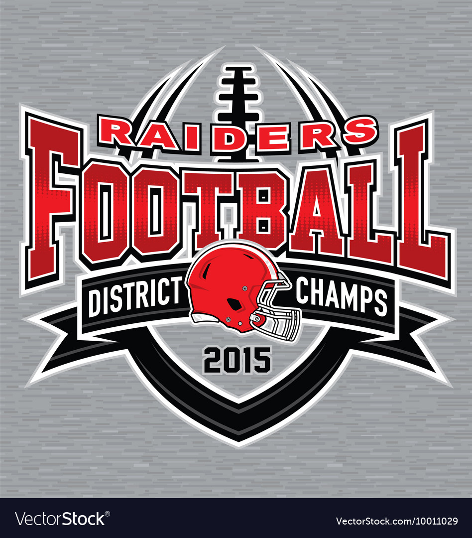 District Champs Football T Shirt Graphic Vector Image