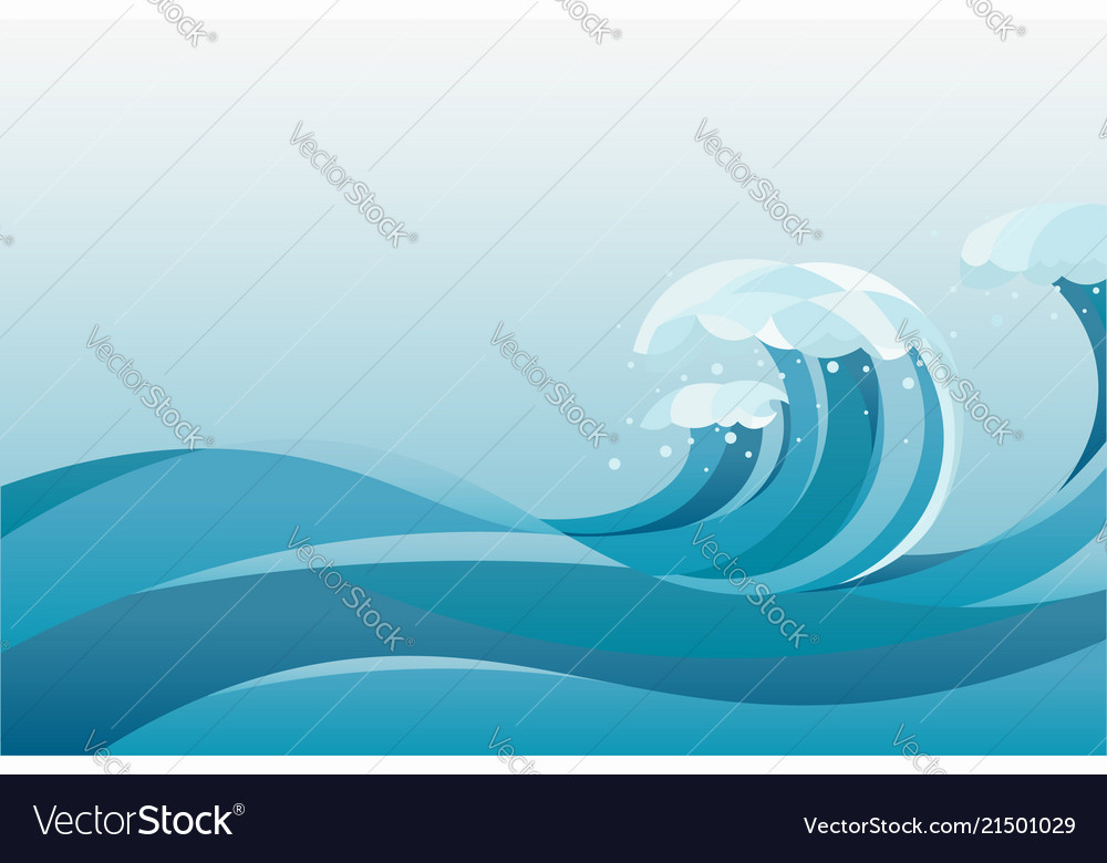 High tide water waves background