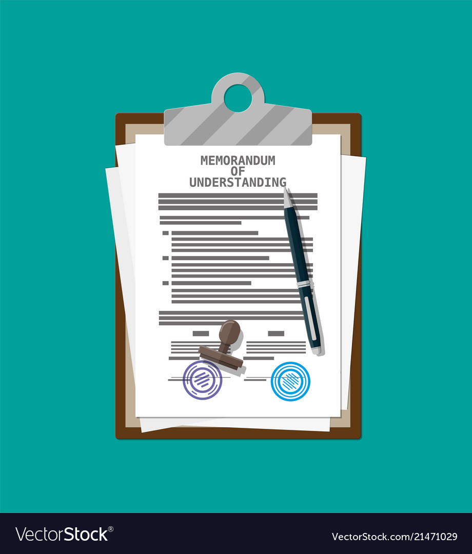 Memorandum of understanding document