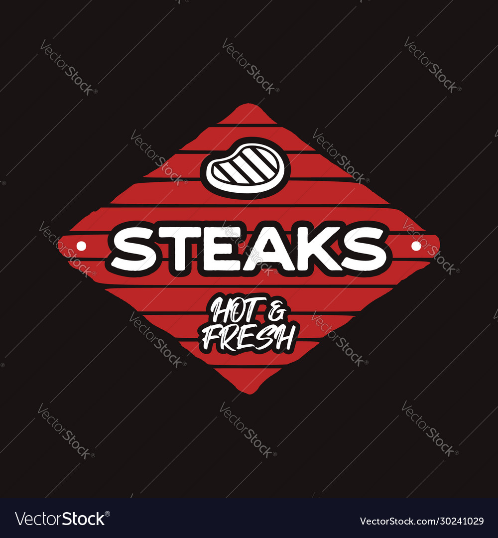 Steak house logo template bbq grill bar emlem