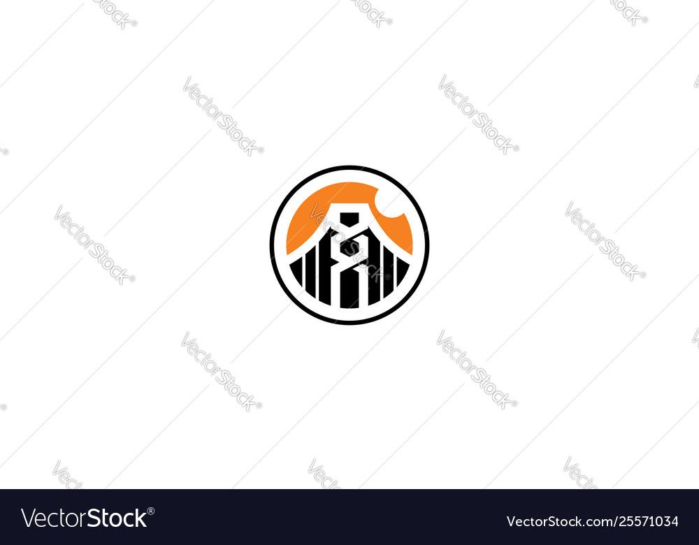 Building bridge logo icon