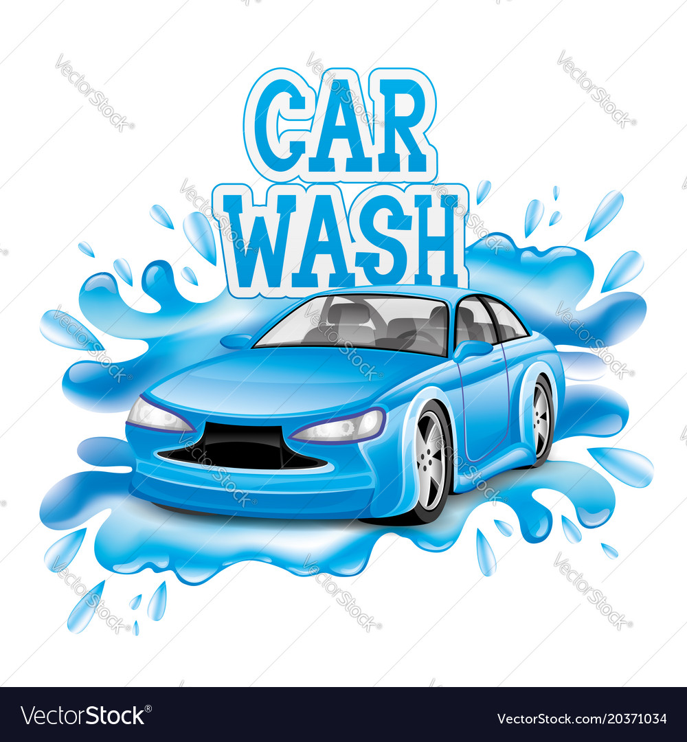 car wash sign royalty free vector image vectorstock rh vectorstock com car wash victoria texas car wash victor ny