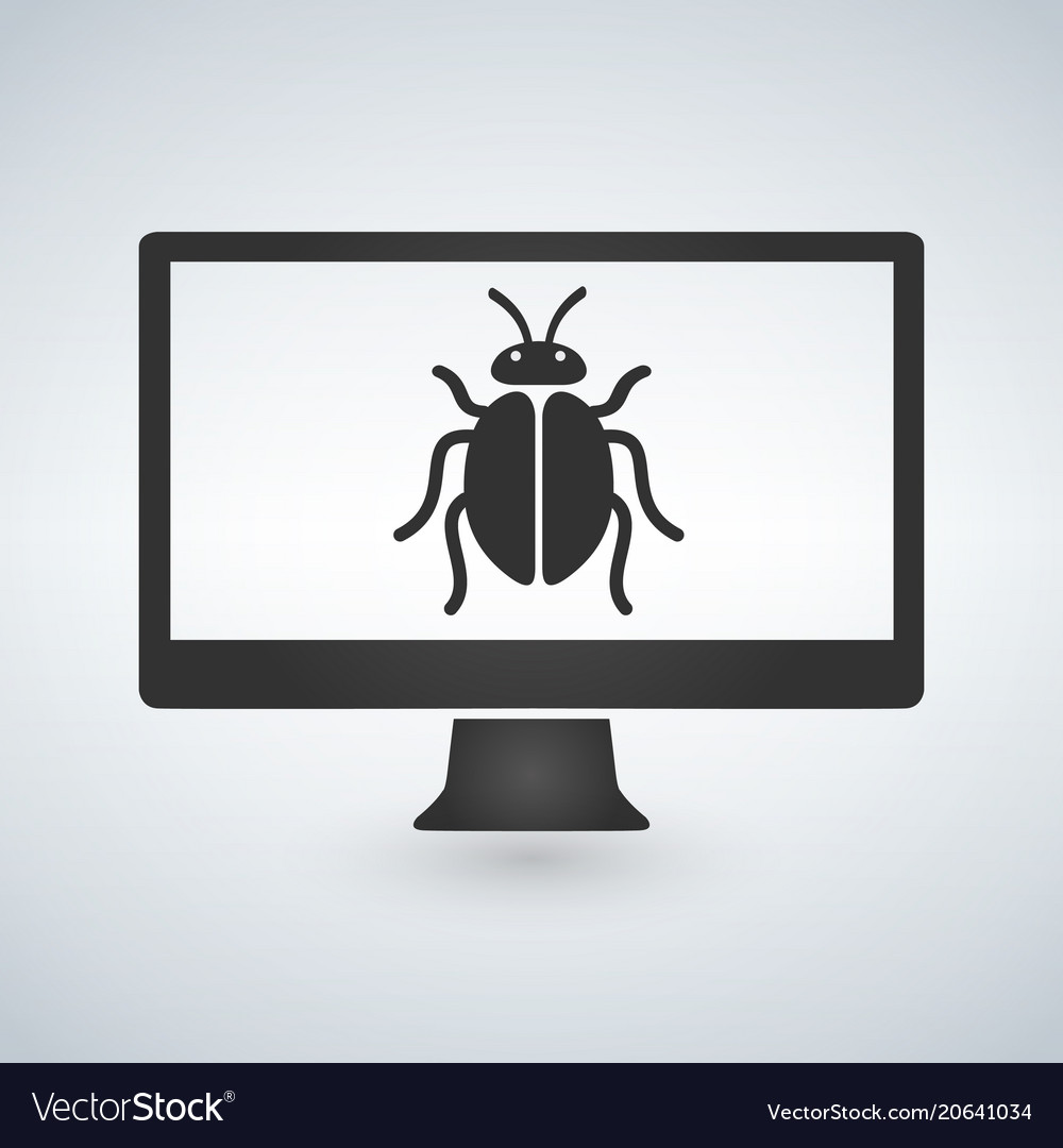 Computer is infected by malware bug on screen