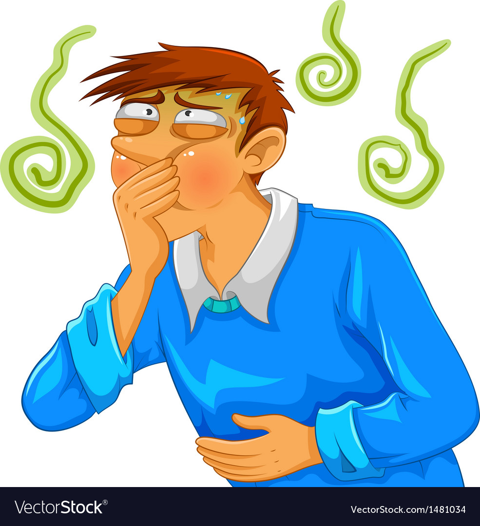 Nauseous vector image