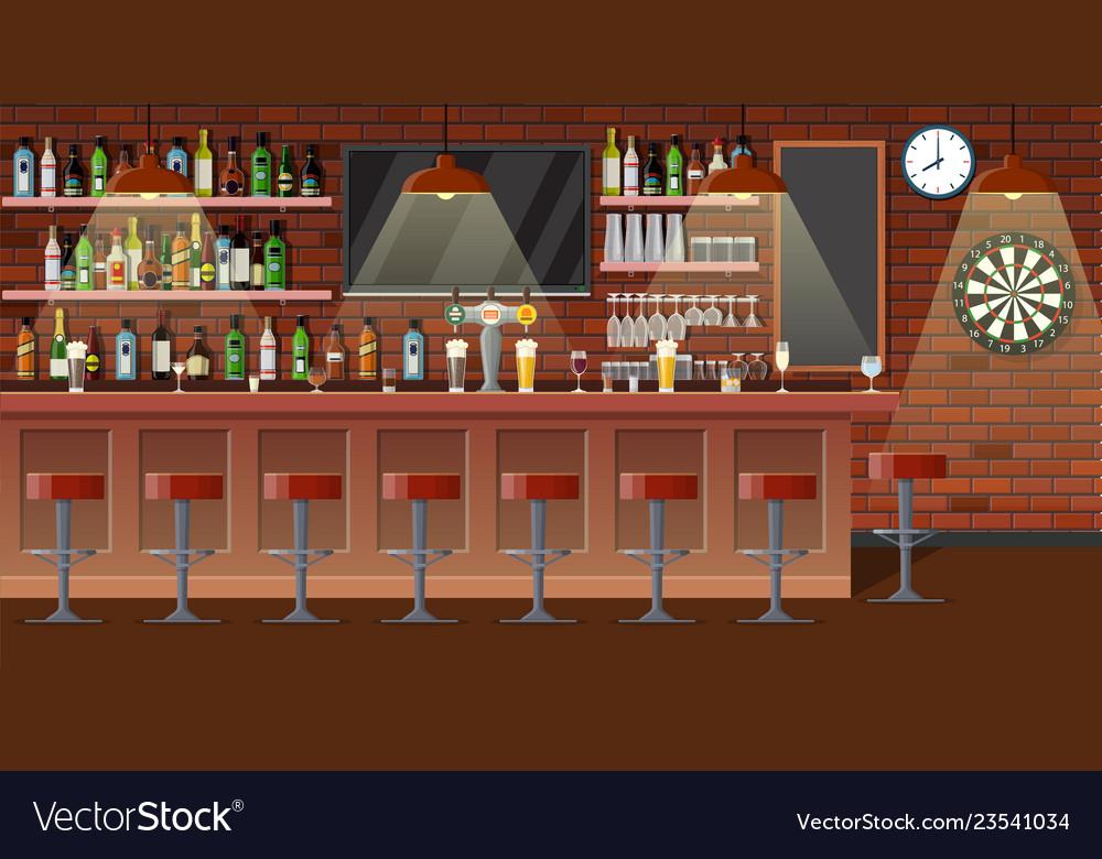 Nterior of pub cafe or bar