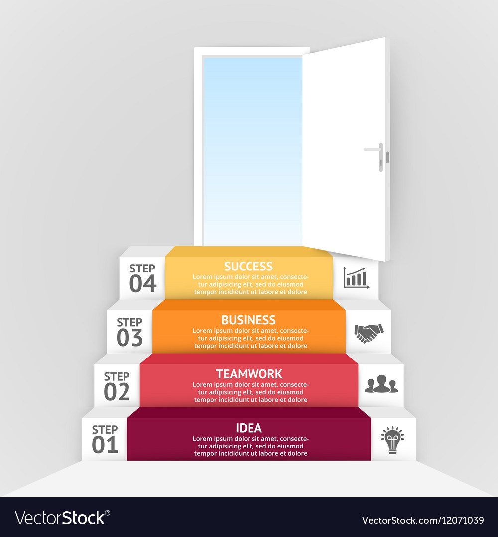 3d arrows infographic Template for diagram vector image