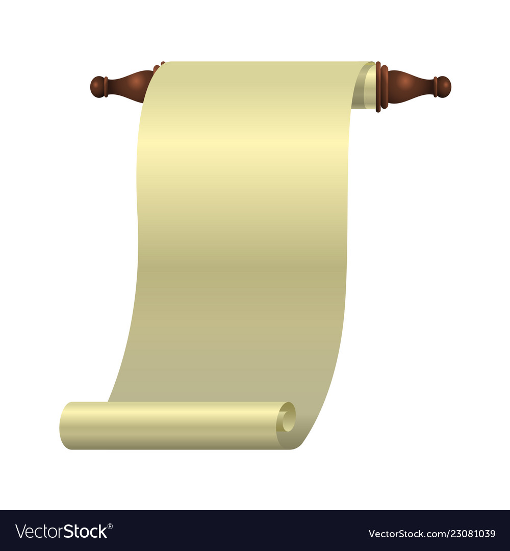 An empty scroll is an opened scroll unrolled