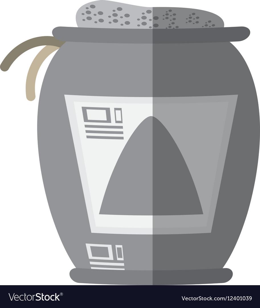 Cartoon sack concrete construction tool