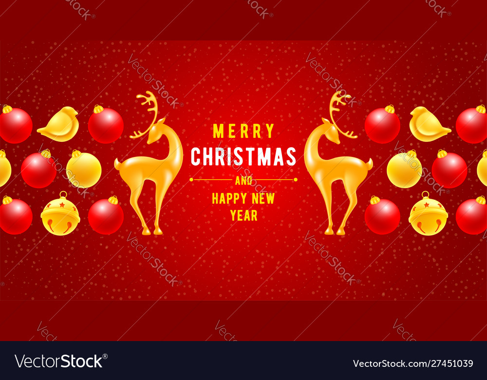 Festive christmas and new year greeting card