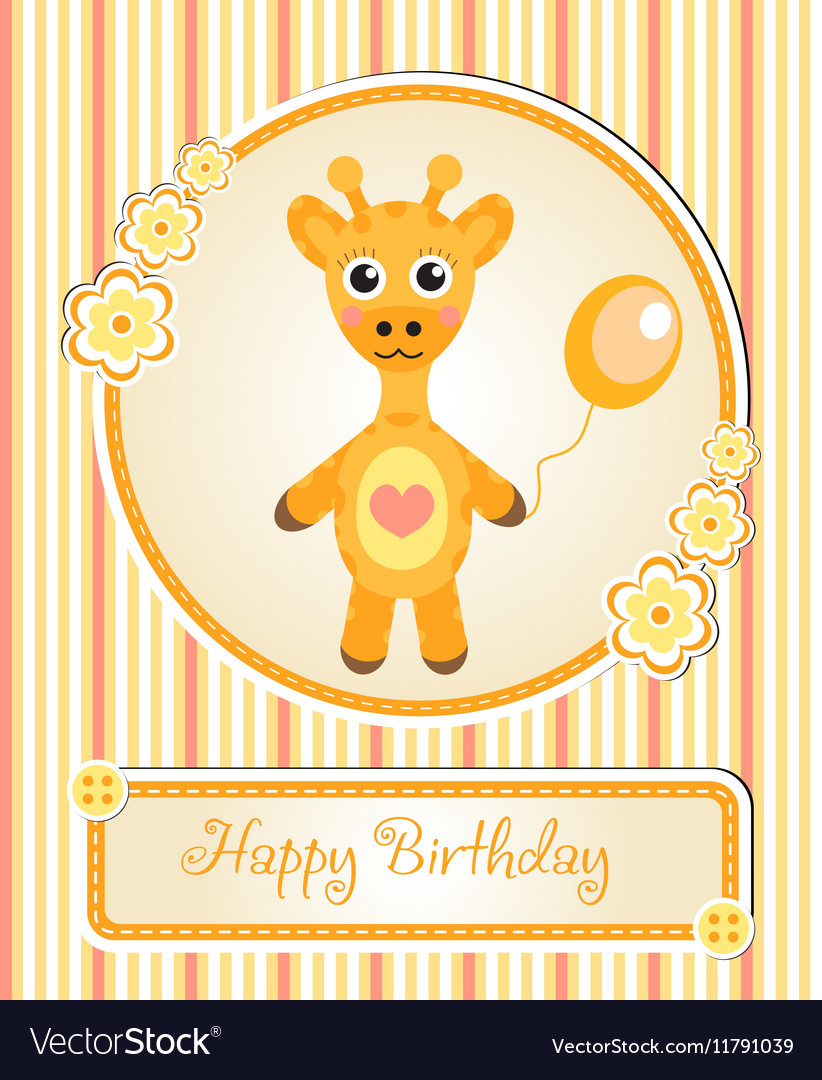 Greeting template cute children s birthday party