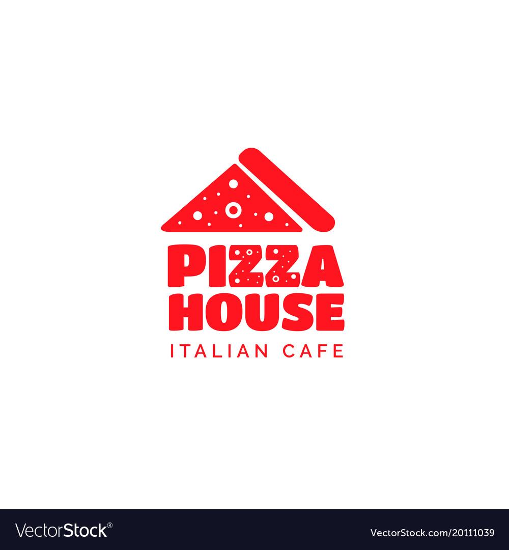 Pizza restaurant funny bold logo design
