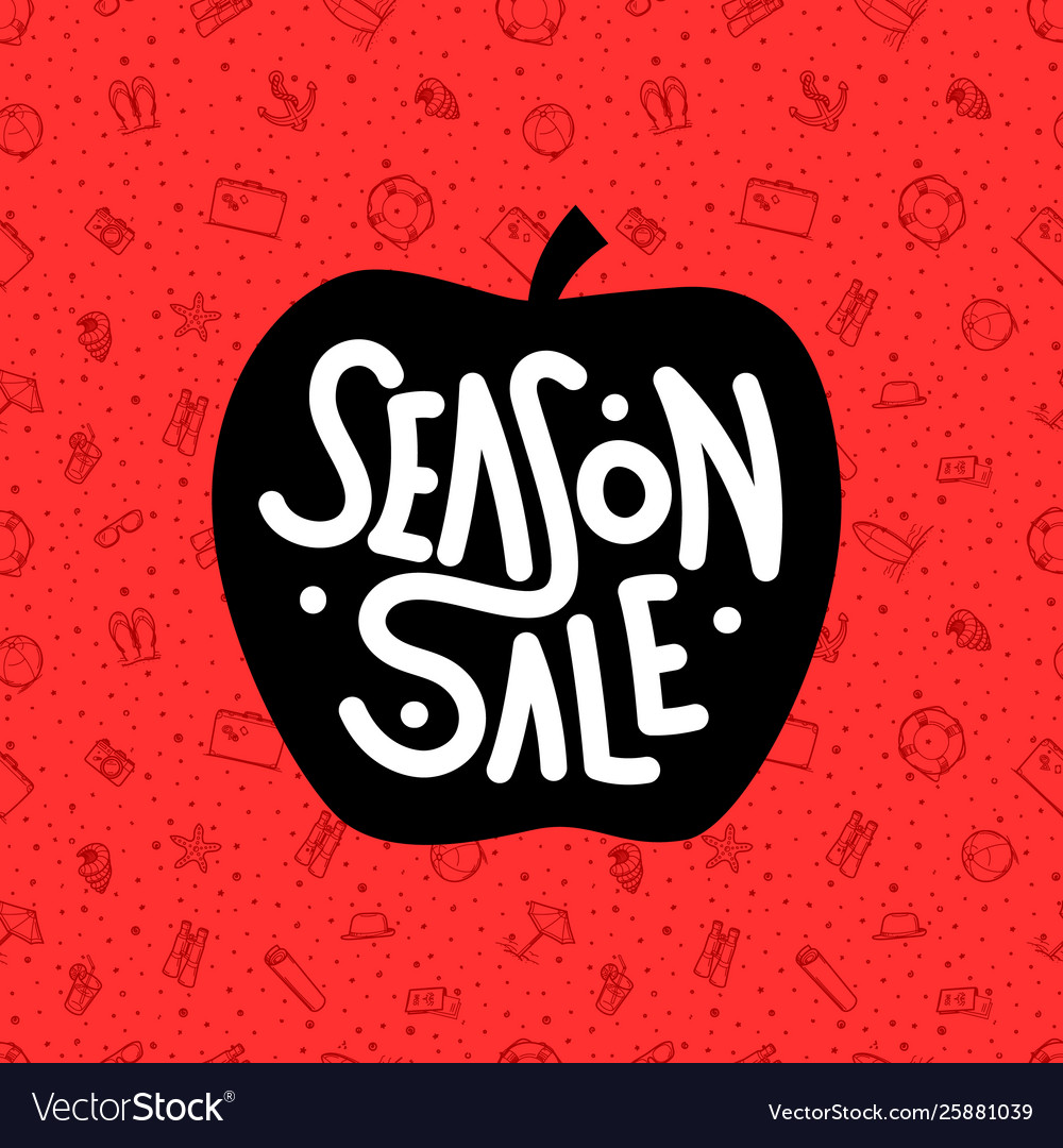 Season sale summer sale red banner vector