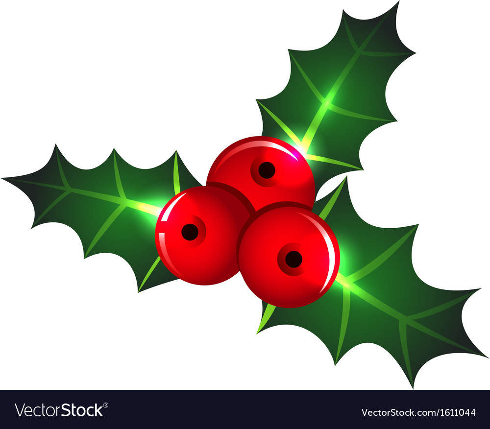 christmas mistletoe icon vector image - Mistletoe Christmas