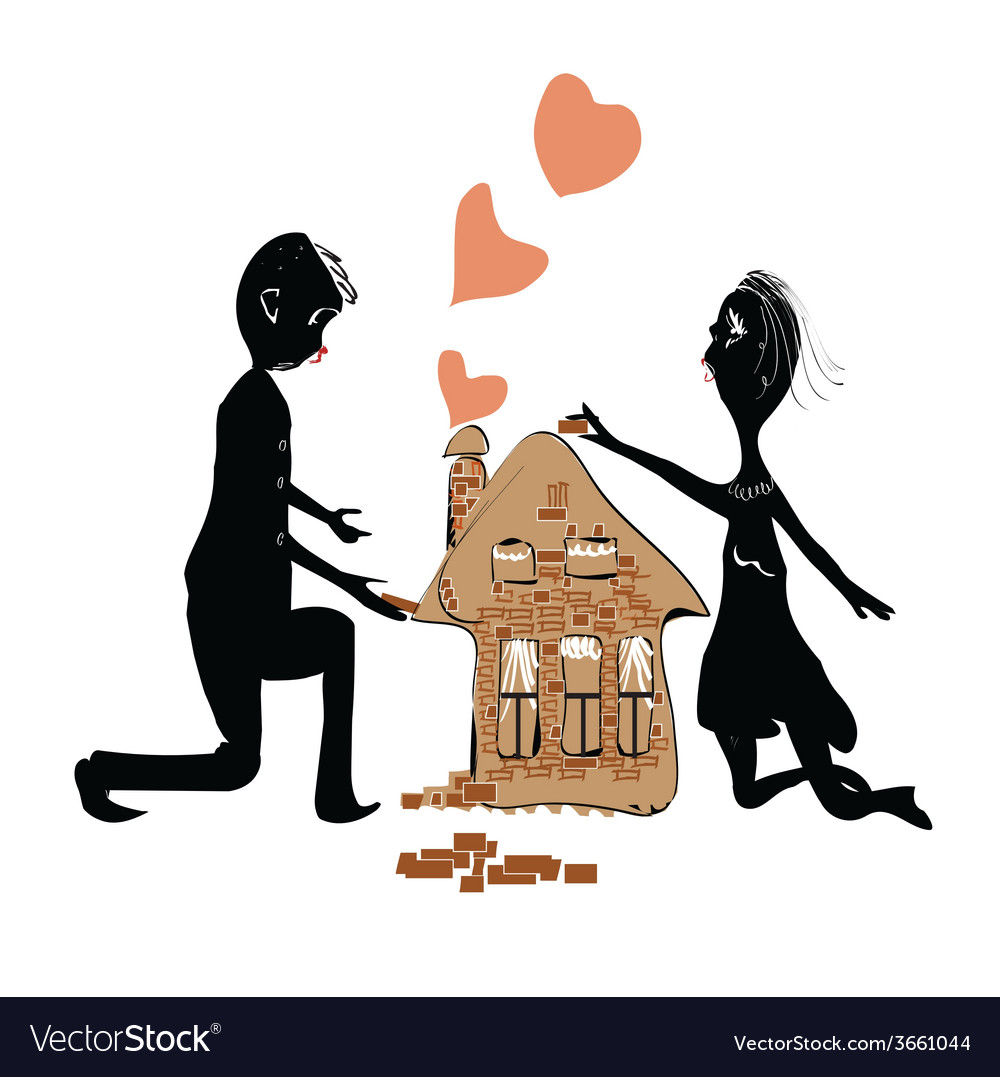 Couple Building House vector image