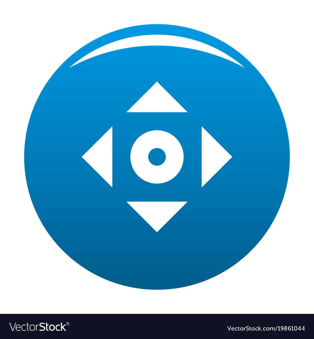 Cursor displacement app icon blue